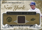 2008 Upper Deck UD A Piece of History Franchise History Jersey Gold #FH31 Carlos Beltran /99