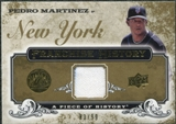 2008 Upper Deck UD A Piece of History Franchise History Jersey Gold #FH32 Pedro Martinez /99
