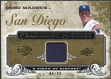 2008 Upper Deck UD A Piece of History Franchise History Jersey Gold #FH43 Greg Maddux /99