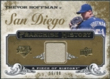 2008 Upper Deck UD A Piece of History Franchise History Jersey Gold #FH45 Trevor Hoffman /99
