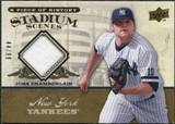 2008 Upper Deck UD A Piece of History Stadium Scenes Jersey Gold #SS40 Joba Chamberlain /99