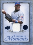 2008 UD A Piece of History Timeless Moments Jersey Blue #11 Alfonso Soriano /25