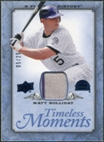 2008 UD A Piece of History Timeless Moments Jersey Blue #19 Matt Holliday /25