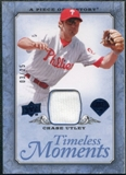 2008 UD A Piece of History Timeless Moments Jersey Blue #39 Chase Utley /25