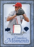 2008 UD A Piece of History Timeless Moments Jersey Blue #41 Cole Hamels /25