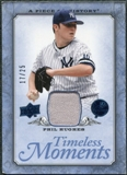 2008 UD A Piece of History Timeless Moments Jersey Blue #44 Phil Hughes /25