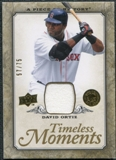2008 Upper Deck UD A Piece of History Timeless Moments Jersey Gold #6 David Ortiz /75