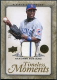 2008 Upper Deck UD A Piece of History Timeless Moments Jersey Gold #11 Alfonso Soriano /75