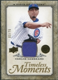 2008 Upper Deck UD A Piece of History Timeless Moments Jersey Gold #12 Carlos Zambrano /75