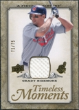 2008 Upper Deck UD A Piece of History Timeless Moments Jersey Gold #16 Grady Sizemore /75