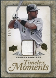 2008 Upper Deck UD A Piece of History Timeless Moments Jersey Gold #22 Hanley Ramirez /75