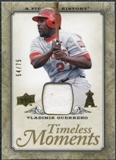 2008 Upper Deck UD A Piece of History Timeless Moments Jersey Gold #24 Vladimir Guerrero /75
