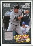 2008 Upper Deck Heroes Jersey Black #42 Jim Thome /125