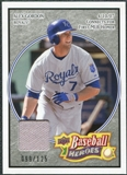 2008 Upper Deck Heroes Jersey Black #79 Alex Gordon /125