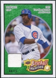 2008 Upper Deck Heroes Jersey Emerald #38 Derrek Lee /25