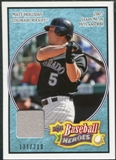2008 Upper Deck Heroes Jersey Light Blue #56 Matt Holliday /200