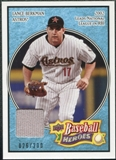 2008 Upper Deck Heroes Jersey Light Blue #74 Lance Berkman /200
