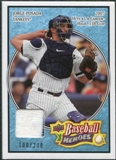 2008 Upper Deck Heroes Jersey Light Blue #117 Jorge Posada /200