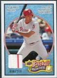2008 Upper Deck Heroes Jersey Light Blue #137 Pat Burrell /200