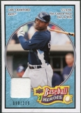 2008 Upper Deck Heroes Jersey Light Blue #165 Carl Crawford /200