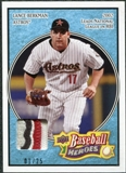 2008 Upper Deck Heroes Patch Light Blue #74 Lance Berkman 1/25