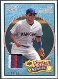 2008 Upper Deck Heroes Patch Light Blue #175 Ian Kinsler 13/25