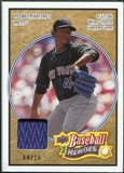 2008 Upper Deck Heroes Patch Beige #106 Pedro Martinez 4/10