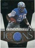 2008 Upper Deck Icons Legendary Icons Jersey Silver #LI1 Barry Sanders /150