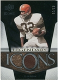 2008 Upper Deck Icons Legendary Icons Jersey Gold #LI10 Jim Brown /25
