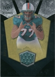 2008 Upper Deck Icons Rookie Brilliance Jersey Silver #RB2 Jake Long /199