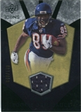 2008 Upper Deck Icons Rookie Brilliance Jersey Silver #RB9 Earl Bennett /199