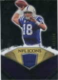 2008 Upper Deck Icons NFL Icons Jersey Silver #NFL40 Peyton Manning /150