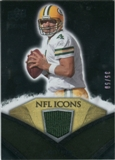 2008 Upper Deck Icons NFL Icons Jersey Gold #NFL8 Brett Favre /50