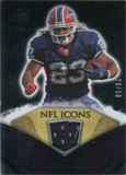 2008 Upper Deck Icons NFL Icons Jersey Gold #NFL34 Marshawn Lynch /50