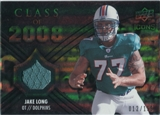 2008 Upper Deck Icons Class of 2008 Jersey Silver #CO7 Jake Long /199