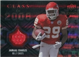 2008 Upper Deck Icons Class of 2008 Jersey Silver #CO18 Jamaal Charles /199