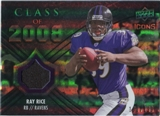 2008 Upper Deck Icons Class of 2008 Jersey Silver #CO32 Ray Rice /199