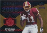 2008 Upper Deck Icons Class of 2008 Jersey Gold #CO5 Devin Thomas /75