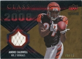 2008 Upper Deck Icons Class of 2008 Jersey Gold #CO15 Andre Caldwell /75