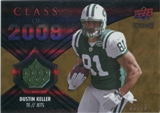 2008 Upper Deck Icons Class of 2008 Jersey Gold #CO17 Dustin Keller /75