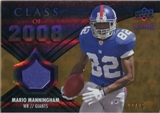 2008 Upper Deck Icons Class of 2008 Jersey Gold #CO27 Mario Manningham /75