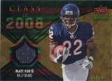 2008 Upper Deck Icons Class of 2008 Jersey Gold #CO29 Matt Forte /75