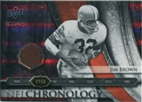 2008 Upper Deck Icons NFL Chronology Jersey Silver #CHR2 Jim Brown /150