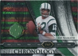 2008 Upper Deck Icons NFL Chronology Jersey Silver #CHR4 Joe Namath /150
