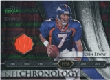 2008 Upper Deck Icons NFL Chronology Jersey Silver #CHR23 John Elway /150