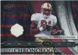 2008 Upper Deck Icons NFL Chronology Jersey Silver #CHR25 Terrell Owens /150