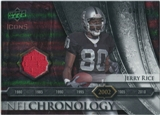 2008 Upper Deck Icons NFL Chronology Jersey Silver #CHR27 Jerry Rice /150