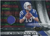 2008 Upper Deck Icons NFL Chronology Jersey Silver #CHR33 Peyton Manning /150