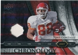 2008 Upper Deck Icons NFL Chronology Jersey Silver #CHR37 Tony Gonzalez /150