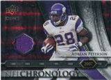 2008 Upper Deck Icons NFL Chronology Jersey Silver #CHR38 Adrian Peterson /150